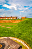 Interesting clouds over Fort McHenry, in Baltimore, Maryland. Royalty Free Stock Photo