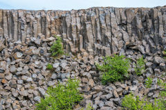 Interesting columnar basalt Royalty Free Stock Photography