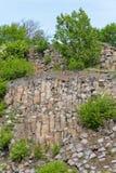 Interesting columnar basalt Royalty Free Stock Photo