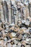 Interesting columnar basalt Royalty Free Stock Photos