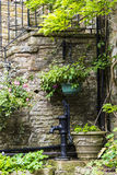 Interesting corner in the small village of Pott Shrigley, Cheshire, England. Royalty Free Stock Images