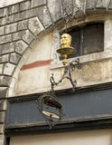 Interesting decorative bust and wall lamp, Venice Royalty Free Stock Image