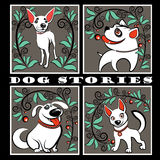 Interesting dog stories Stock Images