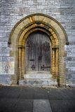 Interesting doorway in Plymouth, England stock images