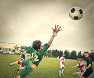 An interesting football match Royalty Free Stock Photography