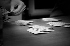 Interesting fun card game, leisure. Interesting fun card game, leisure Stock Photo