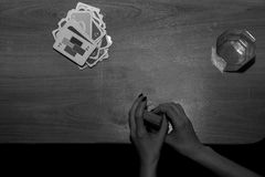 Interesting fun card game, leisure. Interesting fun card game, leisure Stock Image