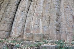 Interesting geological formation - Konojedy Rock Loaves. Massif of the remains of several lava flows royalty free stock photography