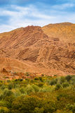 Interesting geological formations in the Atlas Mountains, Morocc Royalty Free Stock Photography