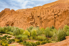 Interesting geological formations in the Atlas Mountains, Morocc Stock Photo