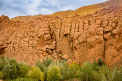 Interesting geological formations in the Atlas Mountains, Morocc Stock Images