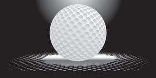 Interesting golf ball. Golf ball in the spotlight on a black background Stock Photo