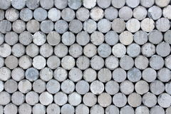 Interesting gray cylinder wall Royalty Free Stock Images