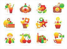 Interesting holiday icons Royalty Free Stock Image