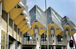 The interesting home architecture in Rotterdam. One part of building architecture in Rotterdam stock photography