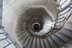 A interesting interior view of the light house of como. Lombardy. Italy stock images