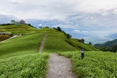 Interesting landscape of up and down stairs. A staircase that leads into the distance. There are rolling hills here. The path goes up and down. Very interesting stock images