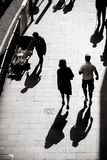 Interesting light and shadow photography of everyday life on the street of Hong Kong stock photos
