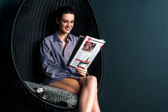 It is interesting magazine to read. Royalty Free Stock Image