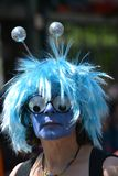 Mask at the Carnival of Cultures in Berlin on May 25s 2015 royalty free stock photos