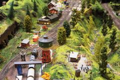 An interesting model train exposition in Luxembourg. An interesting model train exposition. Different model train clubs and private owners put on the exhibition Royalty Free Stock Image