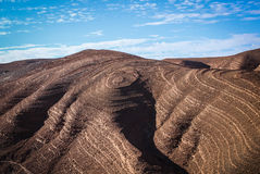 Interesting mountain formation. In the moroccan desert Royalty Free Stock Photo