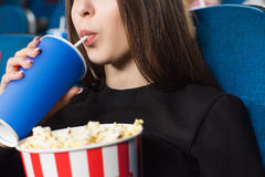 Interesting movies at the cinema Stock Photos