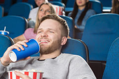 Interesting movies at the cinema Stock Photography