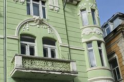 Interesting old building facade in Ruse town Stock Images