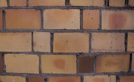 Backdrop of a brick wall stock image