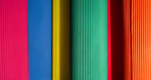 Interesting and original background of colored corrugated paper Stock Images