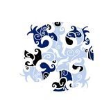 Interesting ornament in Celtic style. Cold color scheme, great as illustration stock illustration