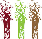 Interesting Ornate Tree Design Elements Stock Images