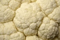Pattern of cauliflower up close