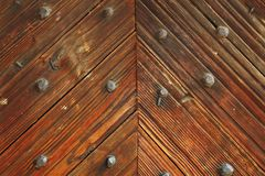 Interesting pattern on wood door Royalty Free Stock Photos