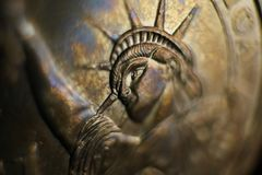 Statue of Liberty on Dollar Coin royalty free stock photography