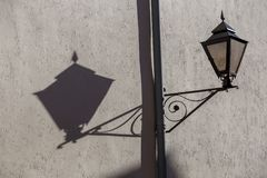 Interesting picture from a lamp and the shadows.  royalty free stock photo