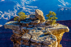 An Interesting Pillar of Rock at the Magnificent Grand Canyon in Arizona Stock Image