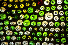 Wall of Bottles Royalty Free Stock Photography
