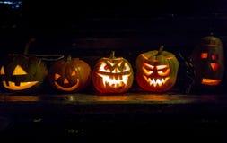 Interesting pumpkins for Halloween Stock Photo