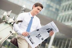 Interesting reading Stock Photography