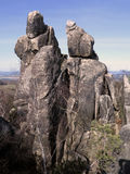 Interesting rock formation - Rock tower in the Crows Rocks in Lu Royalty Free Stock Photos