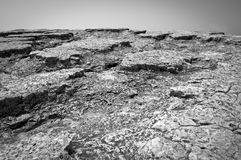 Interesting rock surface in gray Royalty Free Stock Images