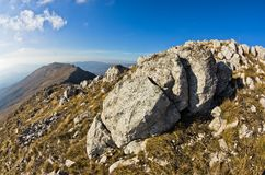 Interesting rocks near the top of a mountain Rtanj Stock Photography