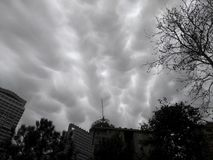 Interesting and Scary Storm Clouds at Istanbul Tukey Stock Photos