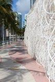 Interesting sculpture along Maimi Walkway,2013 Royalty Free Stock Photo