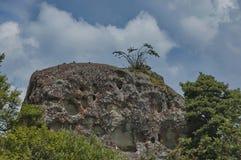 Interesting sedimentary rock in Giants Castle Stock Photography