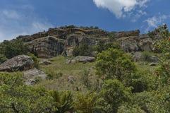 Interesting sedimentary rock in Giants Castle Royalty Free Stock Photo