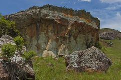 Interesting sedimentary rock in Giants Castle Royalty Free Stock Images