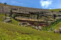 Interesting sedimentary rock in Giants Castle Stock Photos